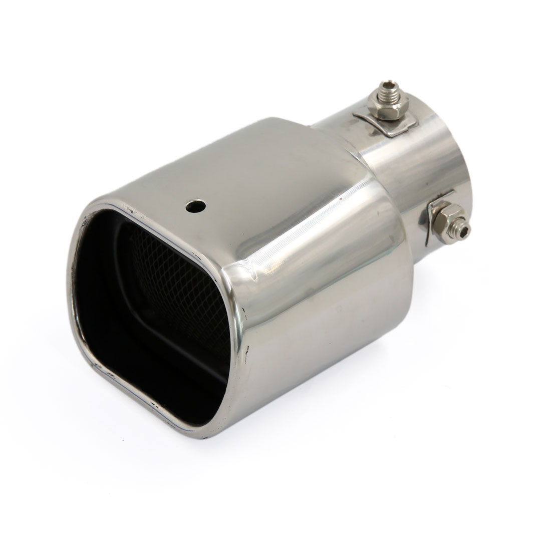 Silver Tone Modified Silencer Exhaust Muffler Tip Pipe for Vehicle Car