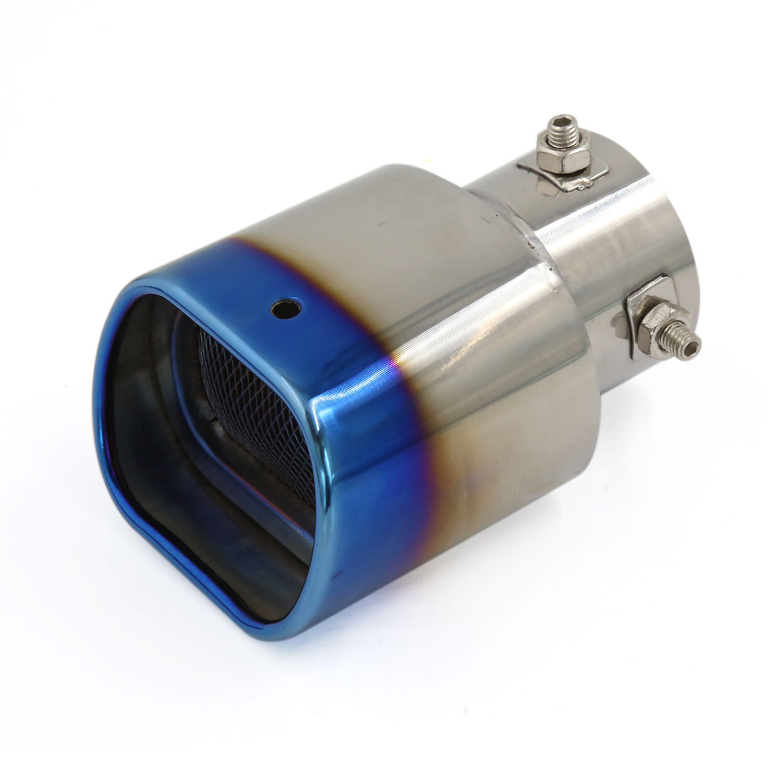 Universal Titanium Blue Silencer Exhaust Muffler Tip Pipe for Car