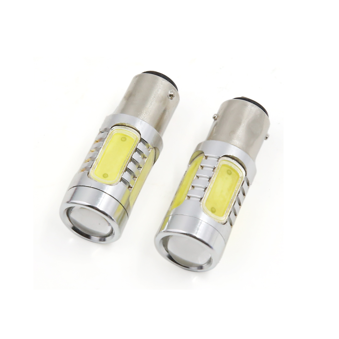 2 Pcs 1156 SMD LED White Turn Signal Light Direction Indicator Bulb 7.5W for Car