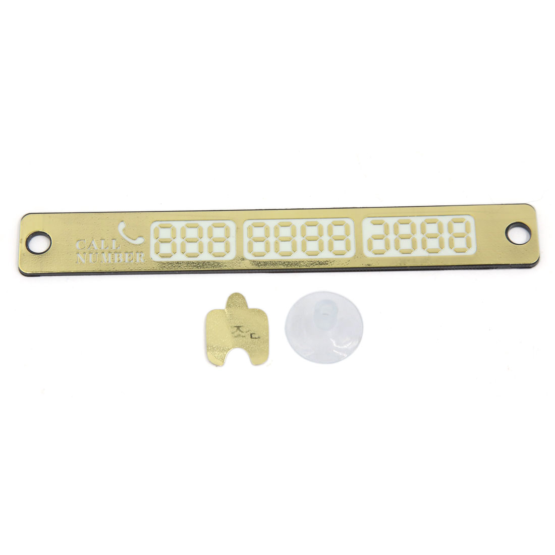 Car Temporary Parking Card Night Light Phone Number Plate Crafts Sucker Vehicle