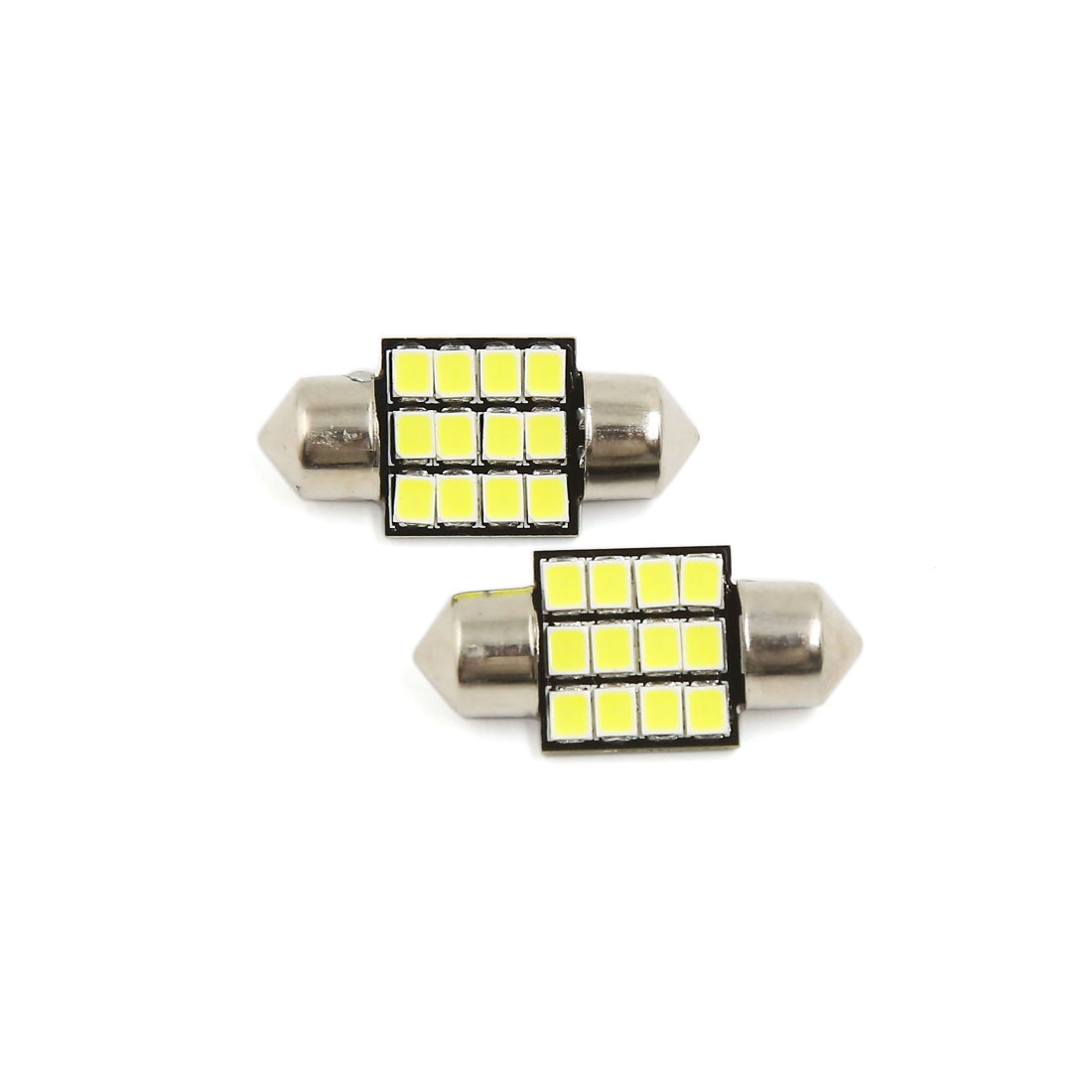 2PCS Ultra White 31MM 2835 Festoon Dome Map Interior LED Light Bulb