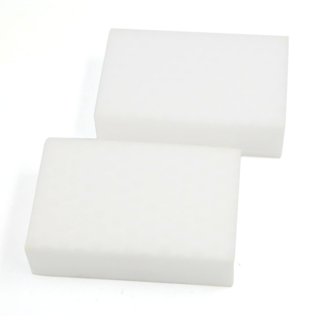 Home Furniture Office Boat Auto Car Sponge Block Cleaning Tool White 2 Pcs