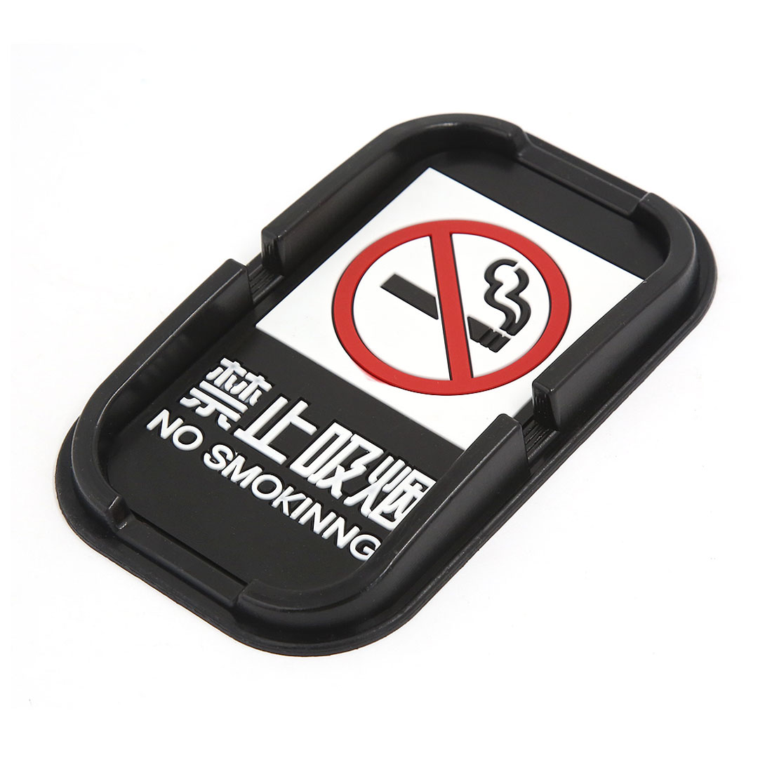 Automobile Black Rubber No Smoking in with Nonslip Mat Holder