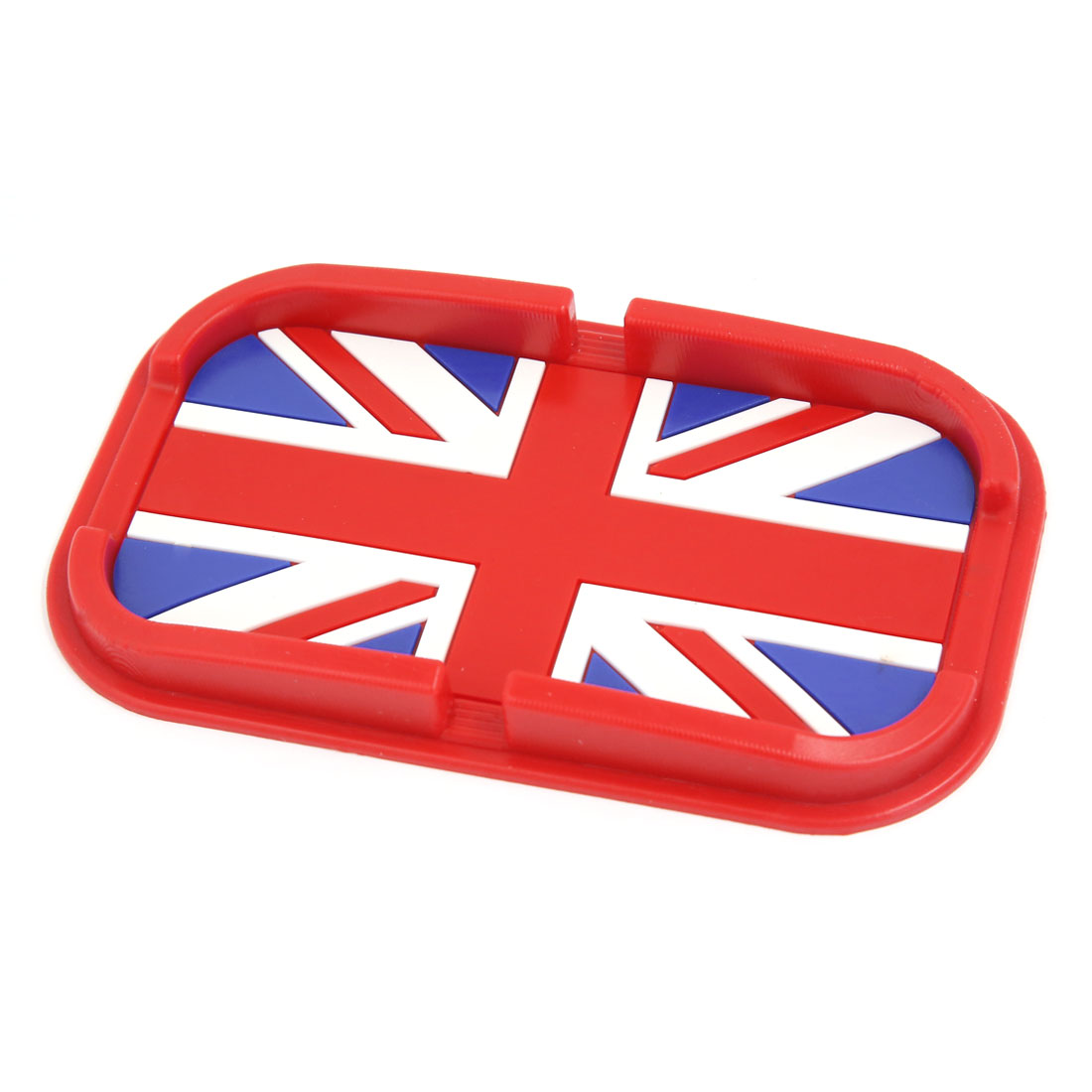 Automobile Navigation Red Rubber British Flag Pattern Non-Slip Pad Mat Holder