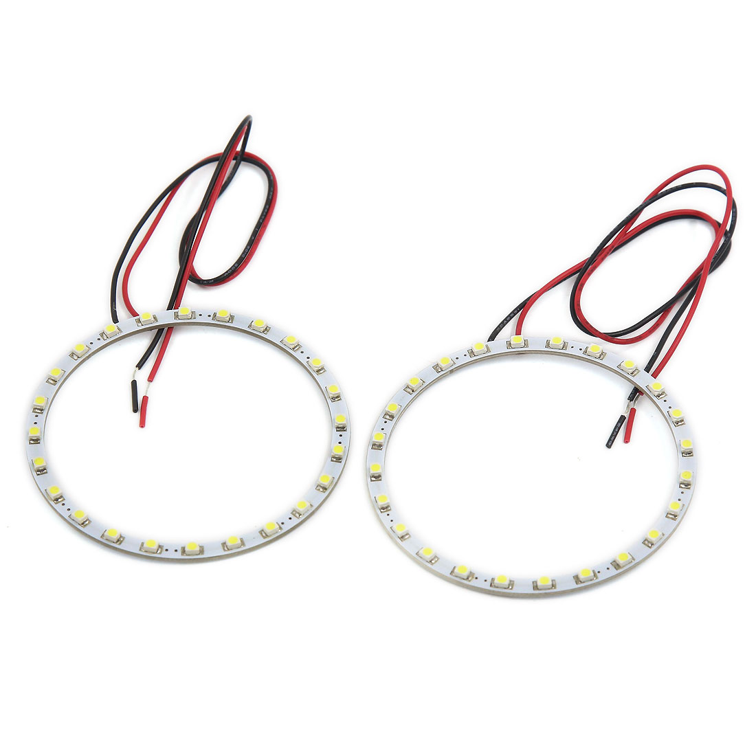 Vehicle Car 80mm Outer Dia Angel Eye White Halo Ring SMD LED Light Lamp 2 Pcs