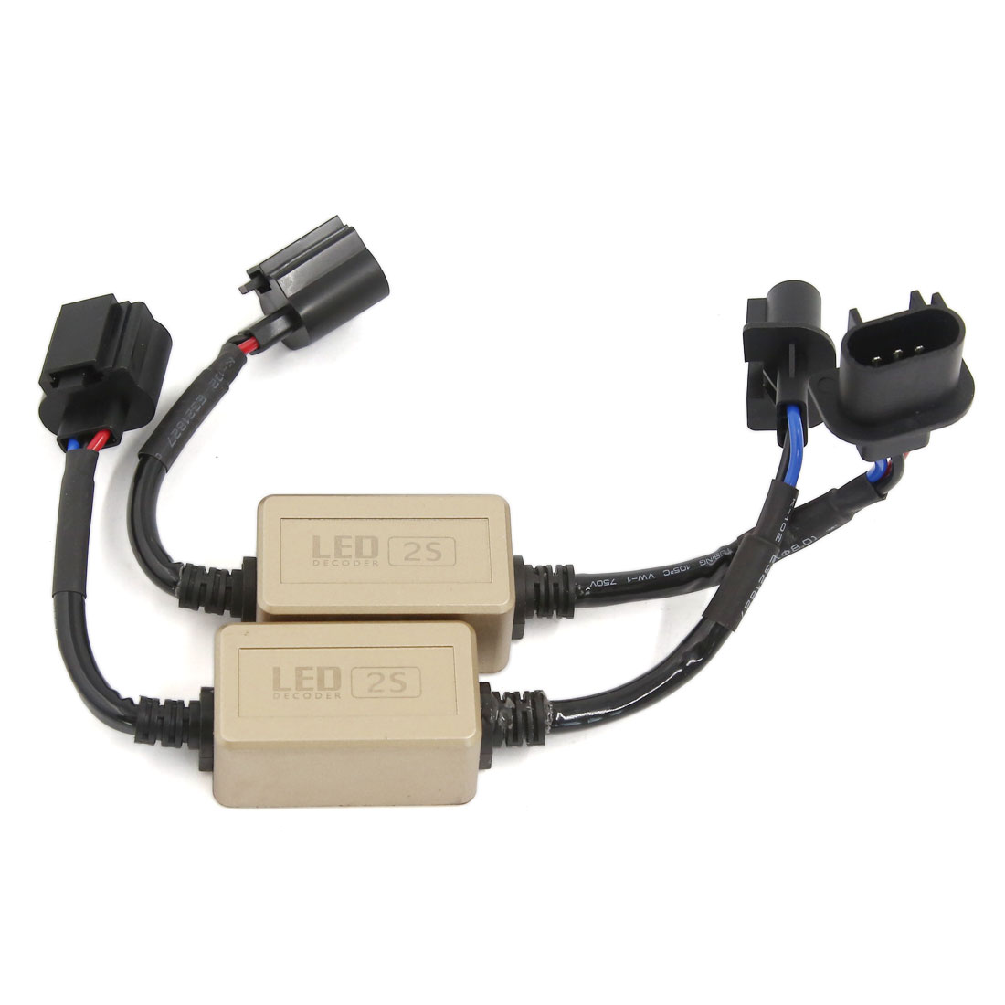 H13 Car LED Decoder Error Anti-Flicker Free Load Resistor 2 Pcs
