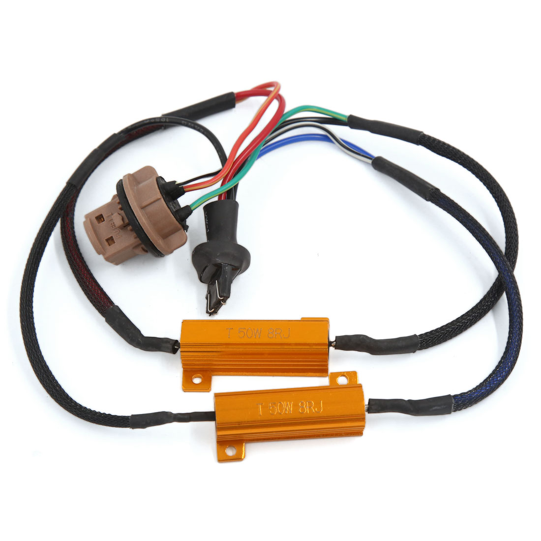 7443 HID Xenon Free Load Resistor Decoder Anti Flicker Canceller for Car