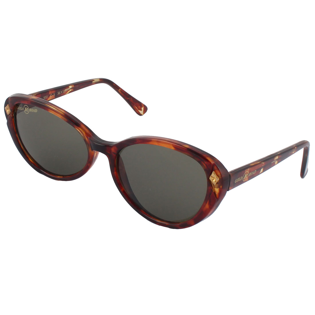 Stylish Women Men Plastic Oval Design Full Frame Leopard Pattern Sunglass