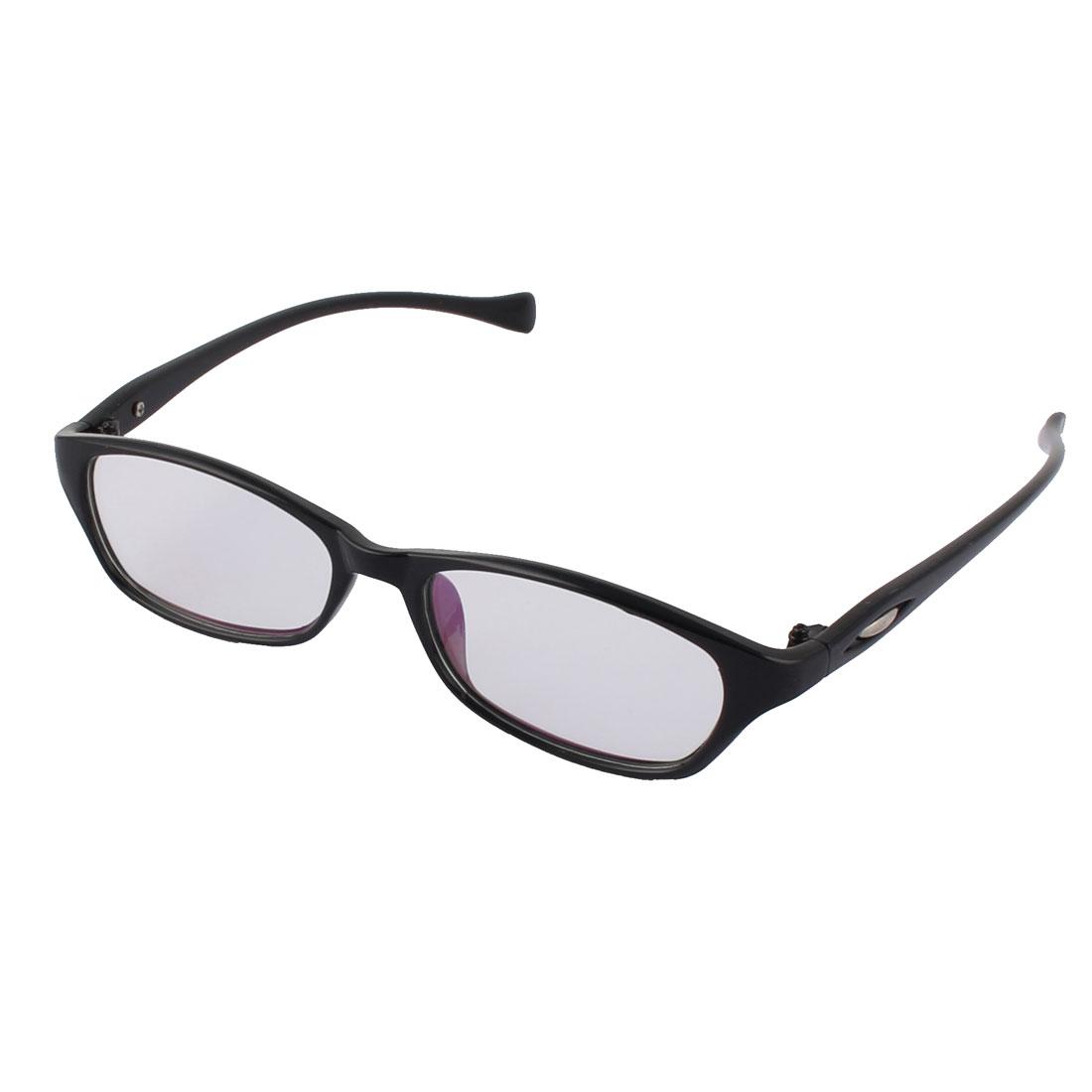 Stylish Clear Lens Light Black Full Frame Plastic Eyewear Optical Glass