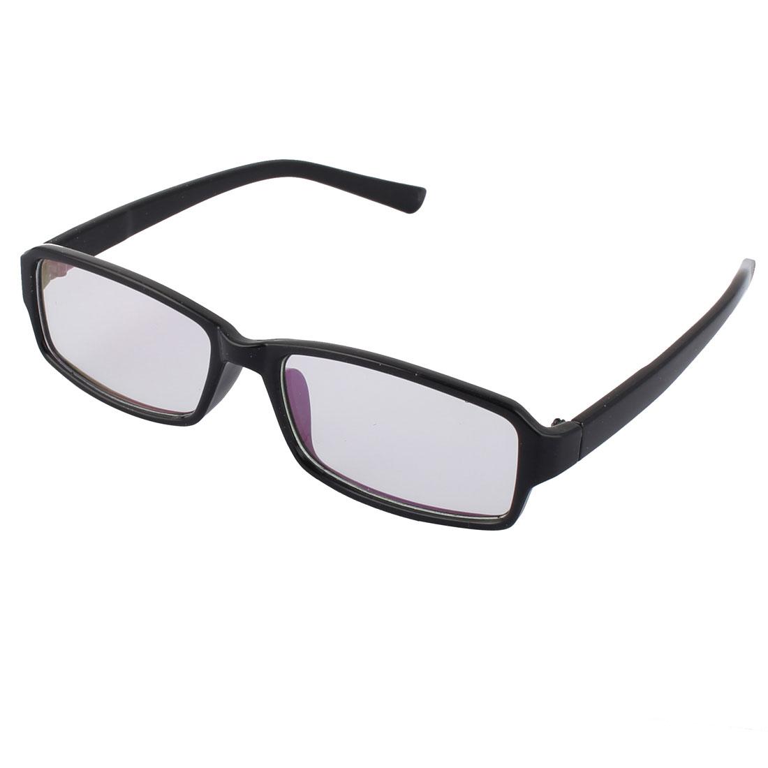 Fashionable Clear Lens Black Frame Plastic Eyewear Plain Glass
