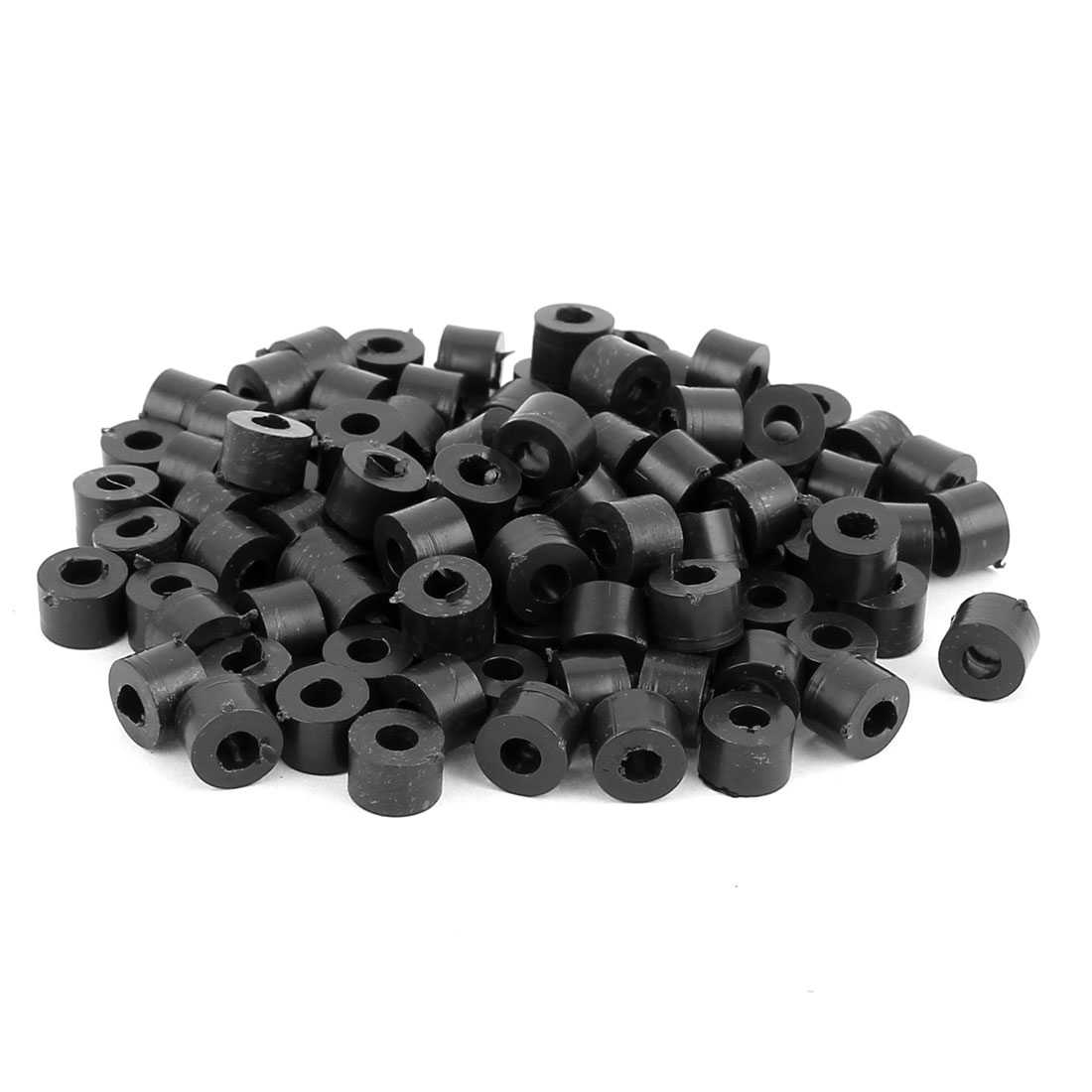 100 Pcs ABS Cylinder LED Spacer Holder Support M3 x 5mm Black