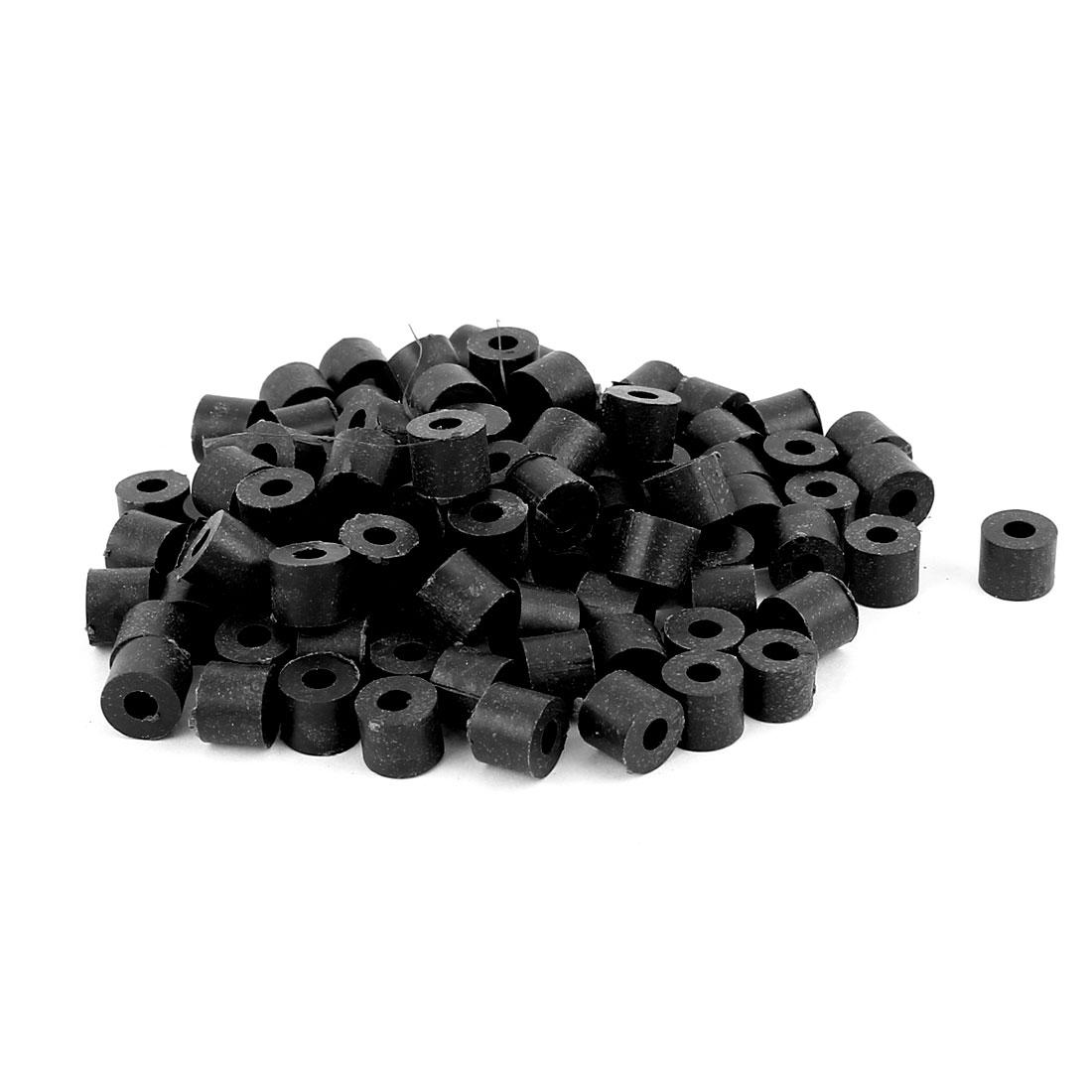 100 Pcs ABS Cylinder LED Spacer Holder Support M3 x 6mm Black