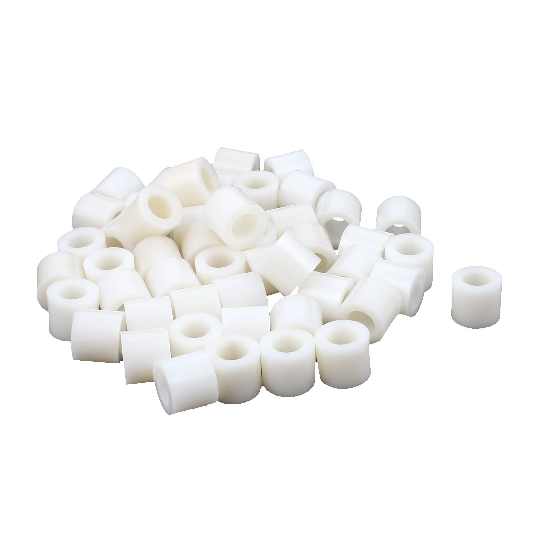 50 Pcs ABS Cylinder LED Spacer Holder Support M8 x 12mm Off-White