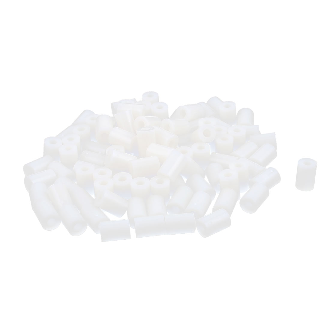 100 Pcs ABS Cylinder LED Spacer Holder Support M3 x 10mm Off-White