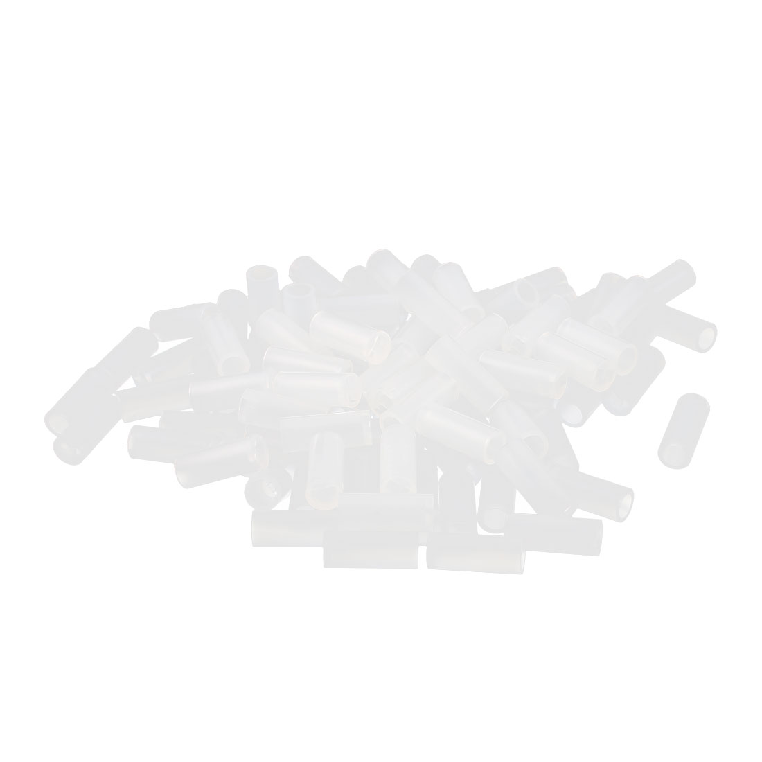 100 Pcs Nylon Cylinder LED Spacer Holder Support 3mm x 10mm Clear