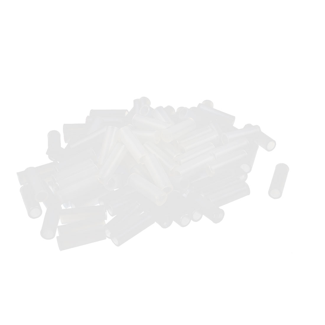 100 Pcs Nylon Cylinder LED Spacer Holder Support 3mm x 12mm Clear