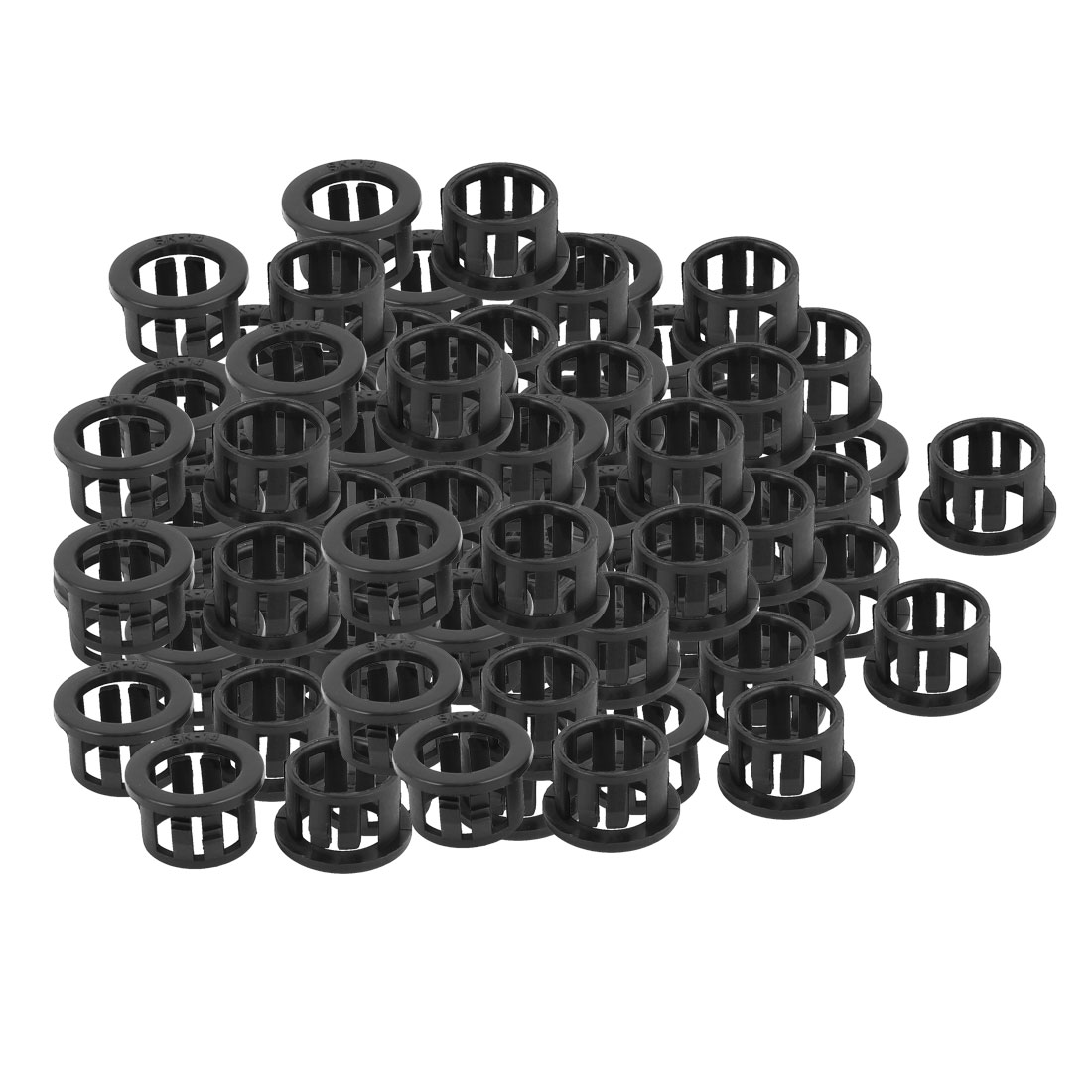 100 Pcs 11.5mm x 14mm Round Cable Harness Protective Snap Bushing SK-14 Black