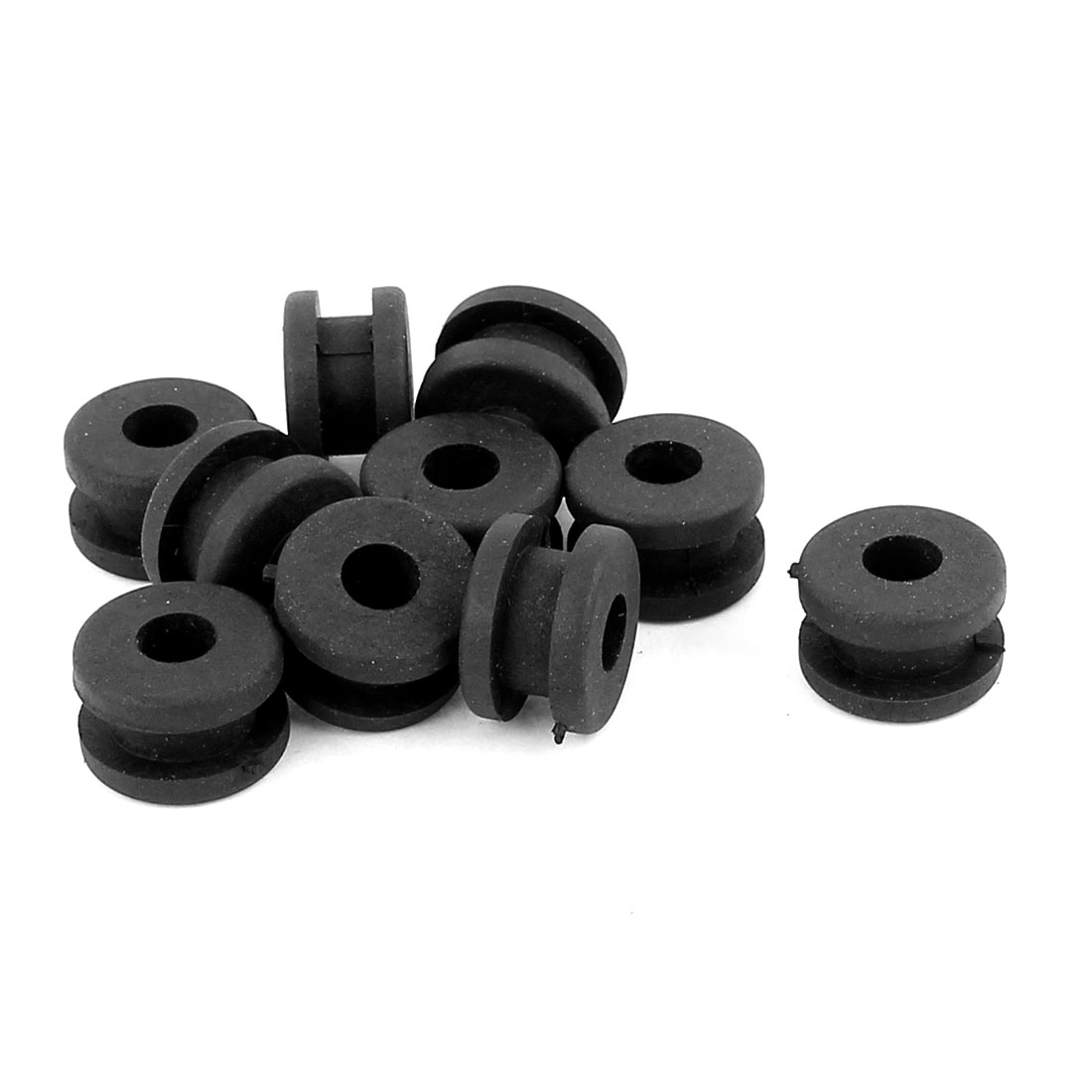 10 Pcs 8.8x5mm Gray Rubber Mini Strain Relief Cord Boot Protector Cable Sleeve Hose for Power Tool