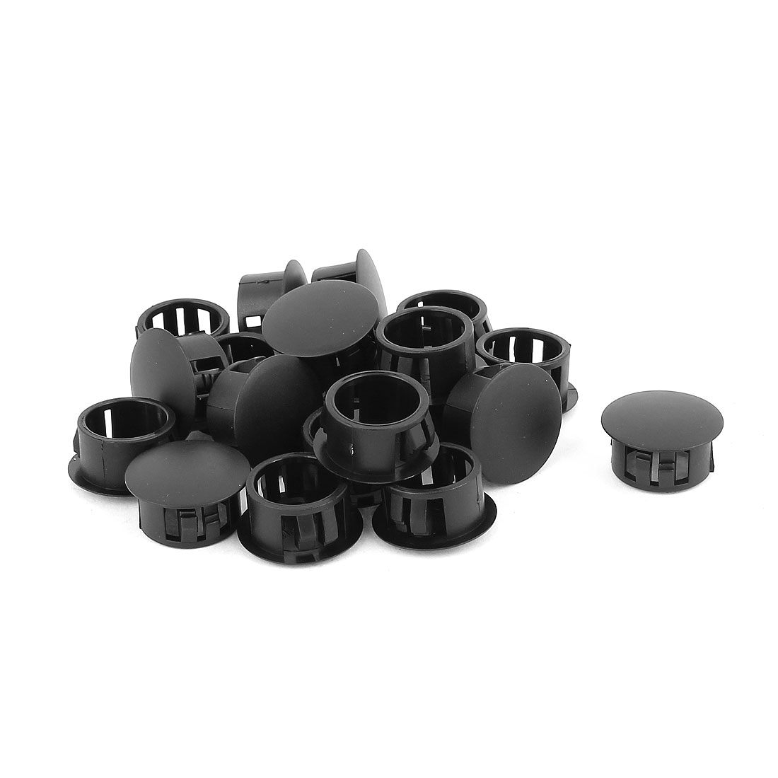 20 Pcs SKT-16 Nylon 16mm Diameter Snap in Type Locking Hole Button Cover