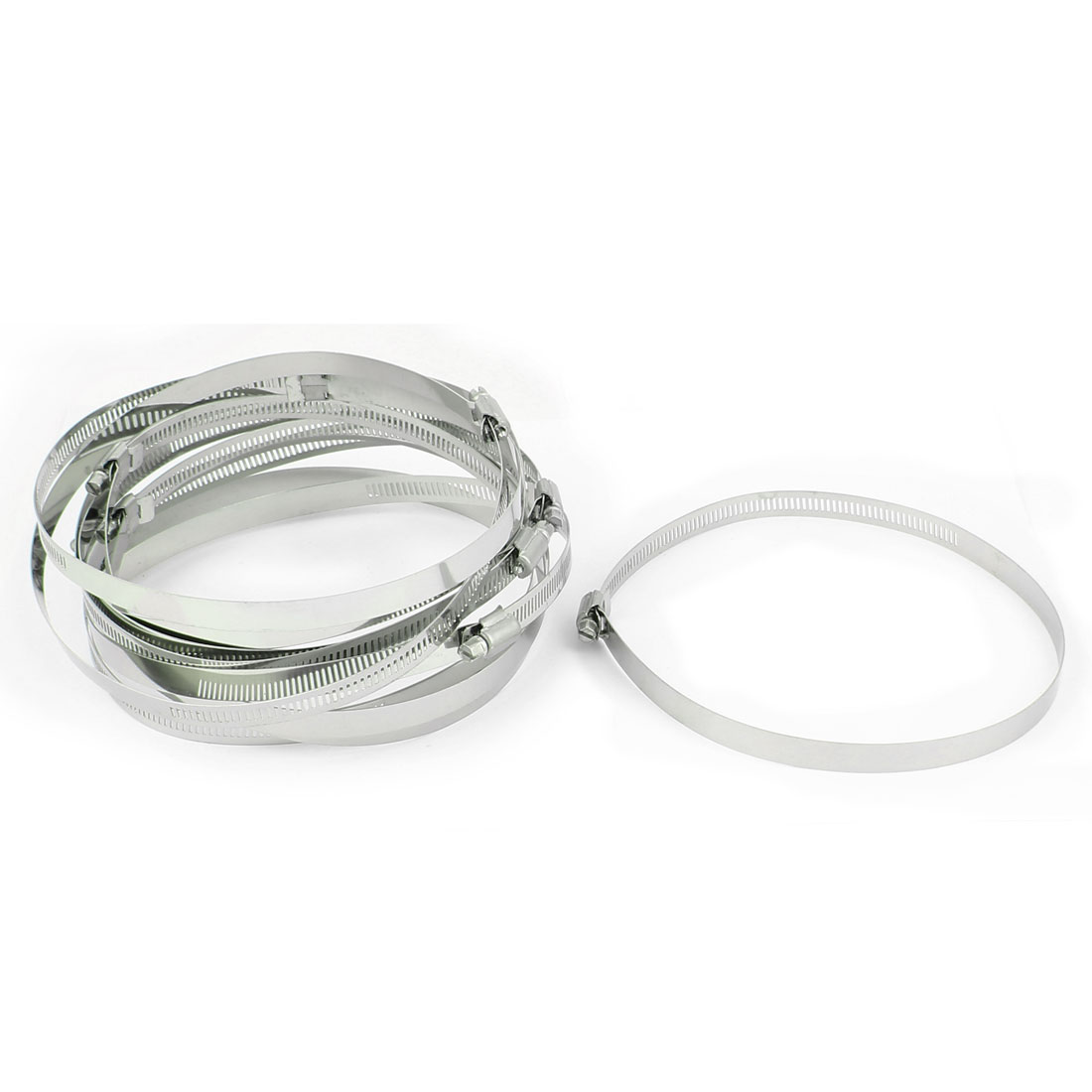10 Pcs Adjustable 155mm-178mm Cable Tight Clamp Pipe Coolant Hose Fitting Clip Stainless Steel