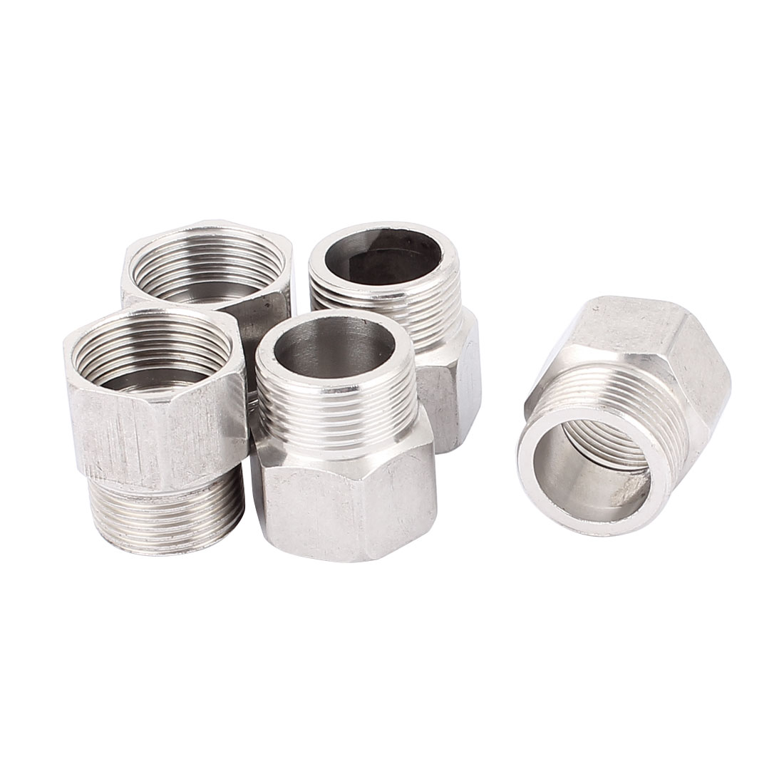 3/4BSP Male to 3/4BSP Female Threaded Hex Reducing Bushing Pipe Tube Adapter 5 Pcs