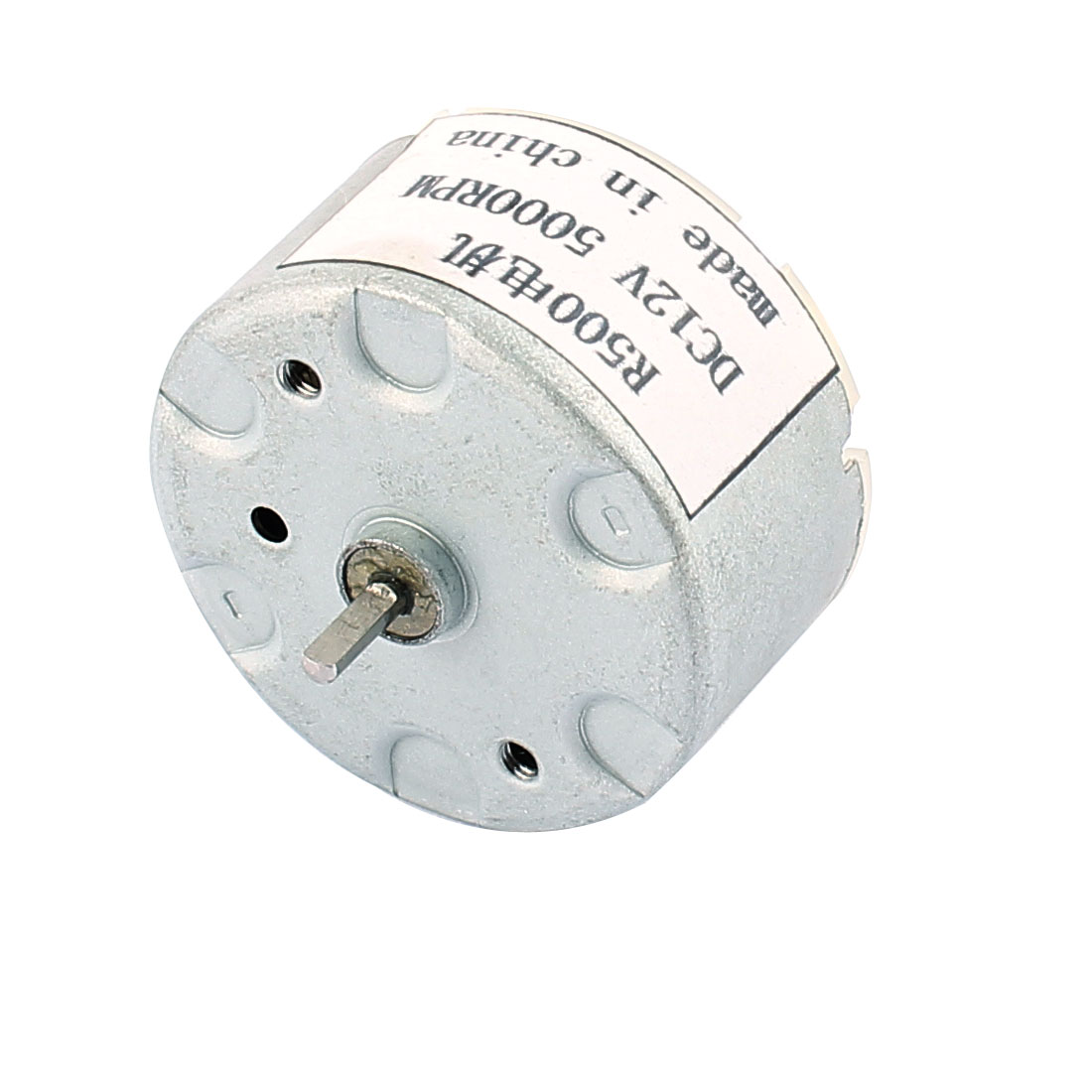R500 DC 12V 5000RPM Flat Shaft Cylindrical Micro Model Magnetic DC Motor