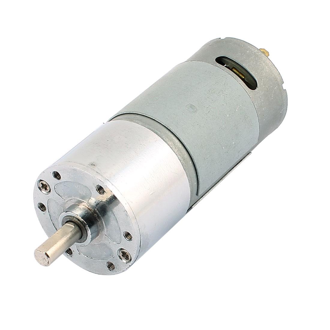 5mm Dia Shaft High Torque Solder Cylindrical Gear Box DC Motor DC 12V 200RPM