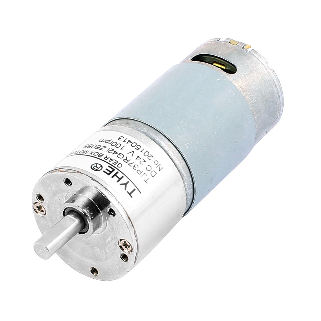 DC24V 100RPM 6mm Shaft Diameter Electric DC Geared Motor TJP37RG42i-Z6068