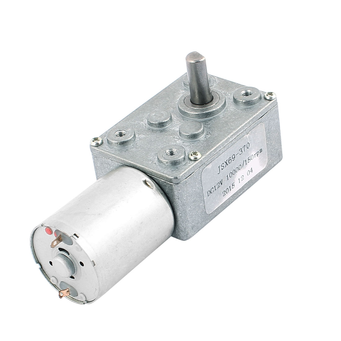 DC12V 10000/150RPM 2 Terminals Connect Turbine Worm Reducer DC Motor JSX69-370