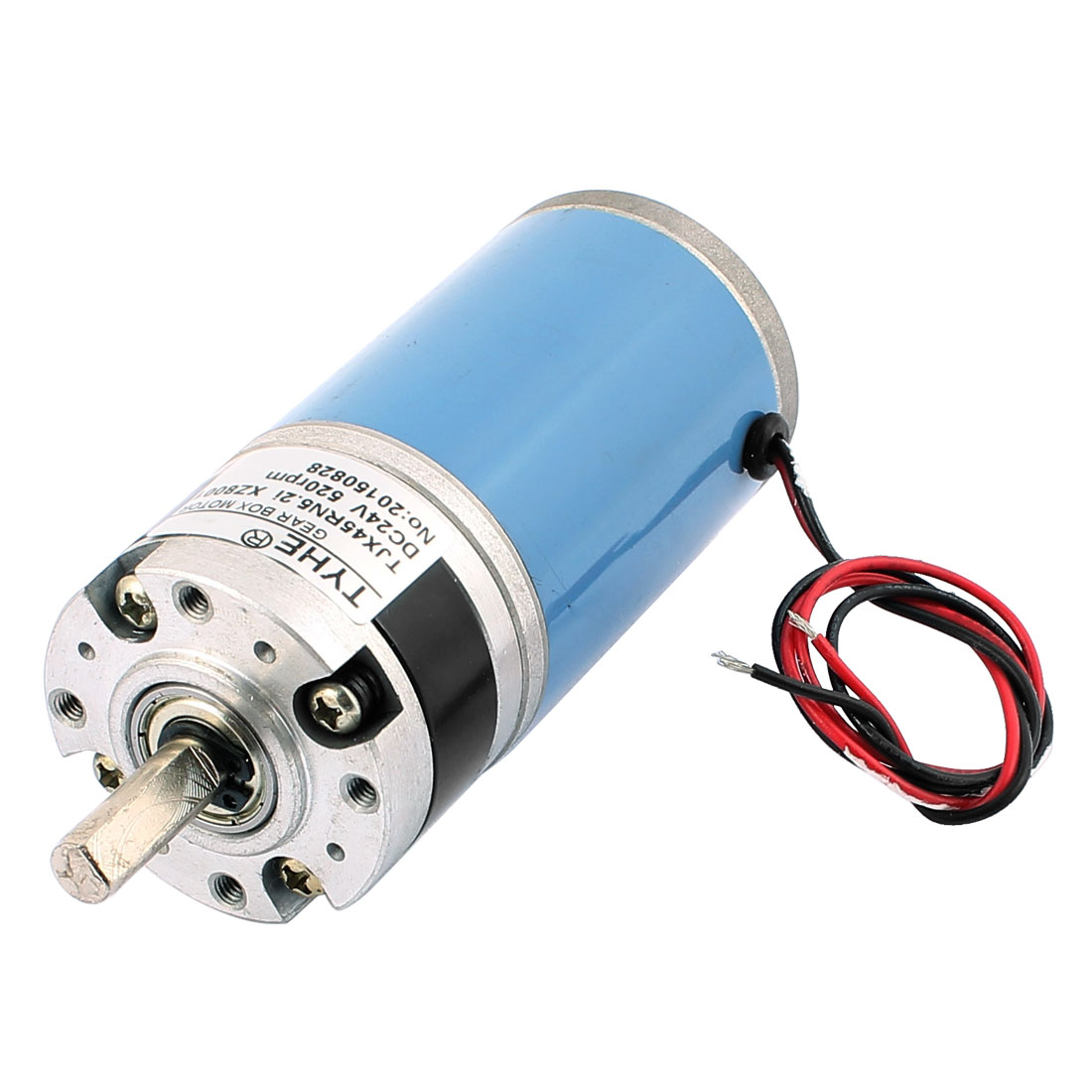 TJX45RN5.2i-ZX8001 8mm Shaft Dia DC Planetary Gearbox Reduction Motor DC24V 520RPM