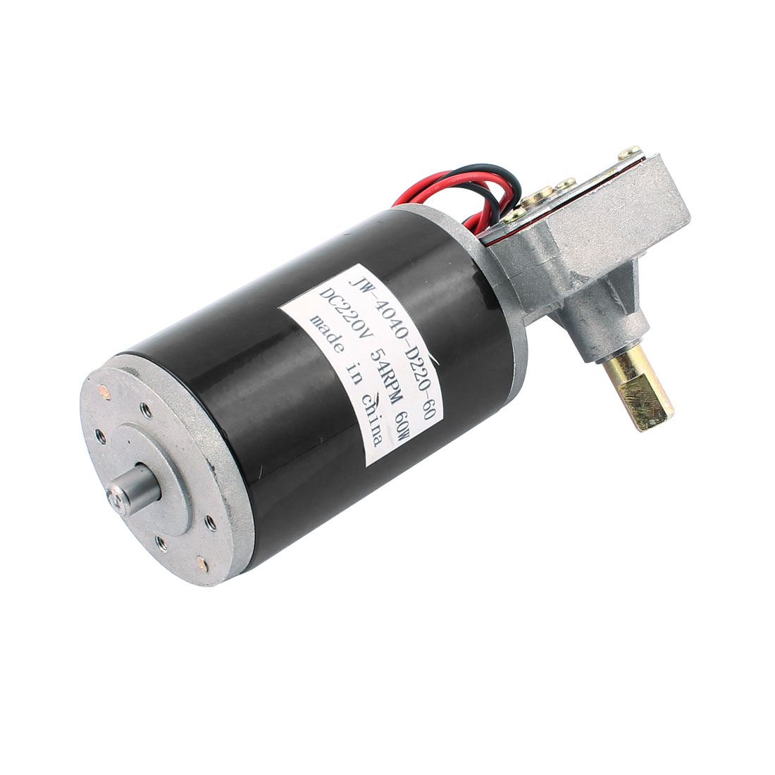 JW-4040-D220-60 DC 220V 54RPM 60W DC Geared Motor for Electronic Game Machine
