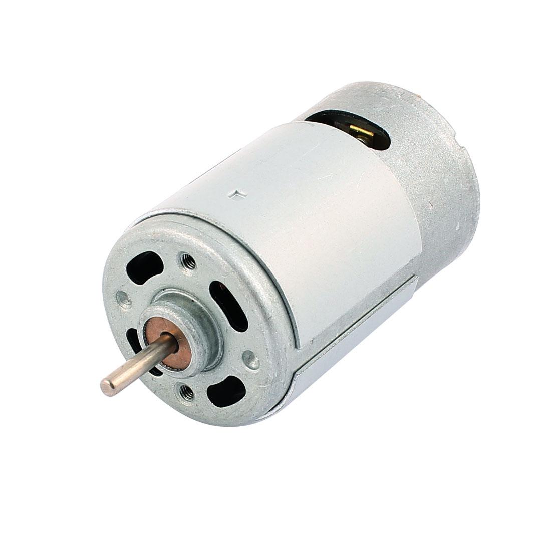 DC 12V 11500R/Min Cylindrical Miniature Model Gear Motor R550 for Car Airplane