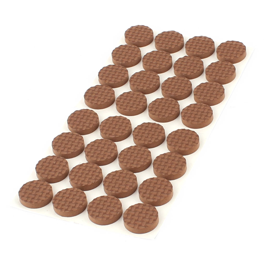 Table Chair EVA Round Anti Scratch Furniture Feet Pads Covers Cushion Brown 18mm Dia 32pcs