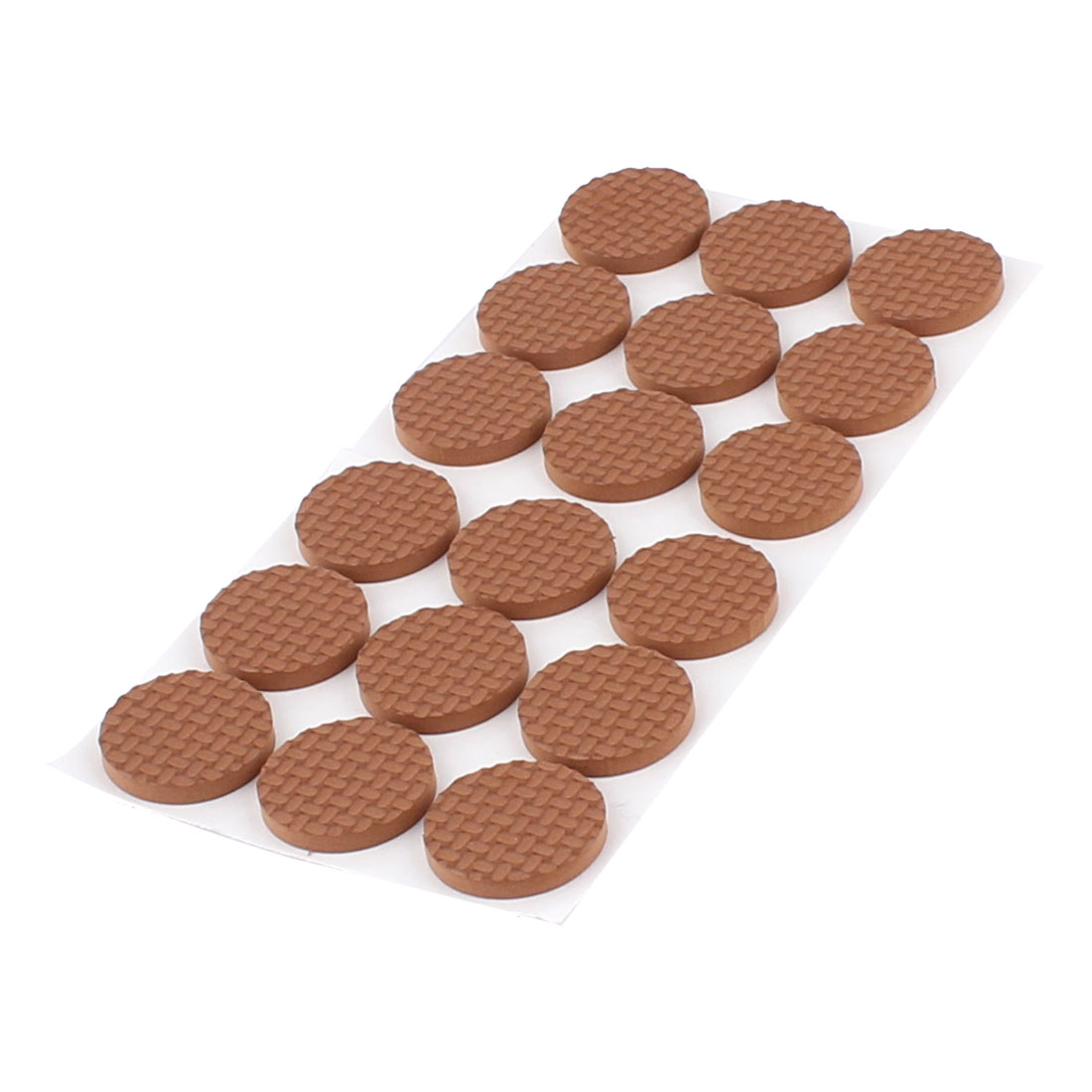 Table Chair EVA Round Anti Scratch Self Adhesive Furniture Feet Pads Covers Cushion Brown 30mm 12pcs
