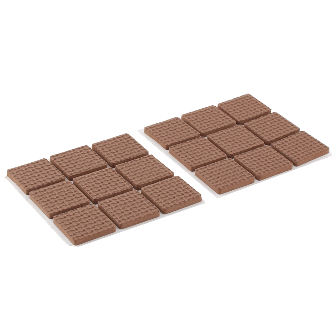 Table Chair EVA Square Anti Skid Furniture Feet Pads Cover Cushion Brown 25 x 25mm 18pcs