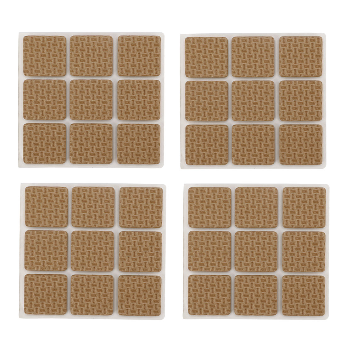 Table Chair EVA Square Anti Skid Furniture Feet Pads Cover Cushion Brown 25 x 25mm 36pcs