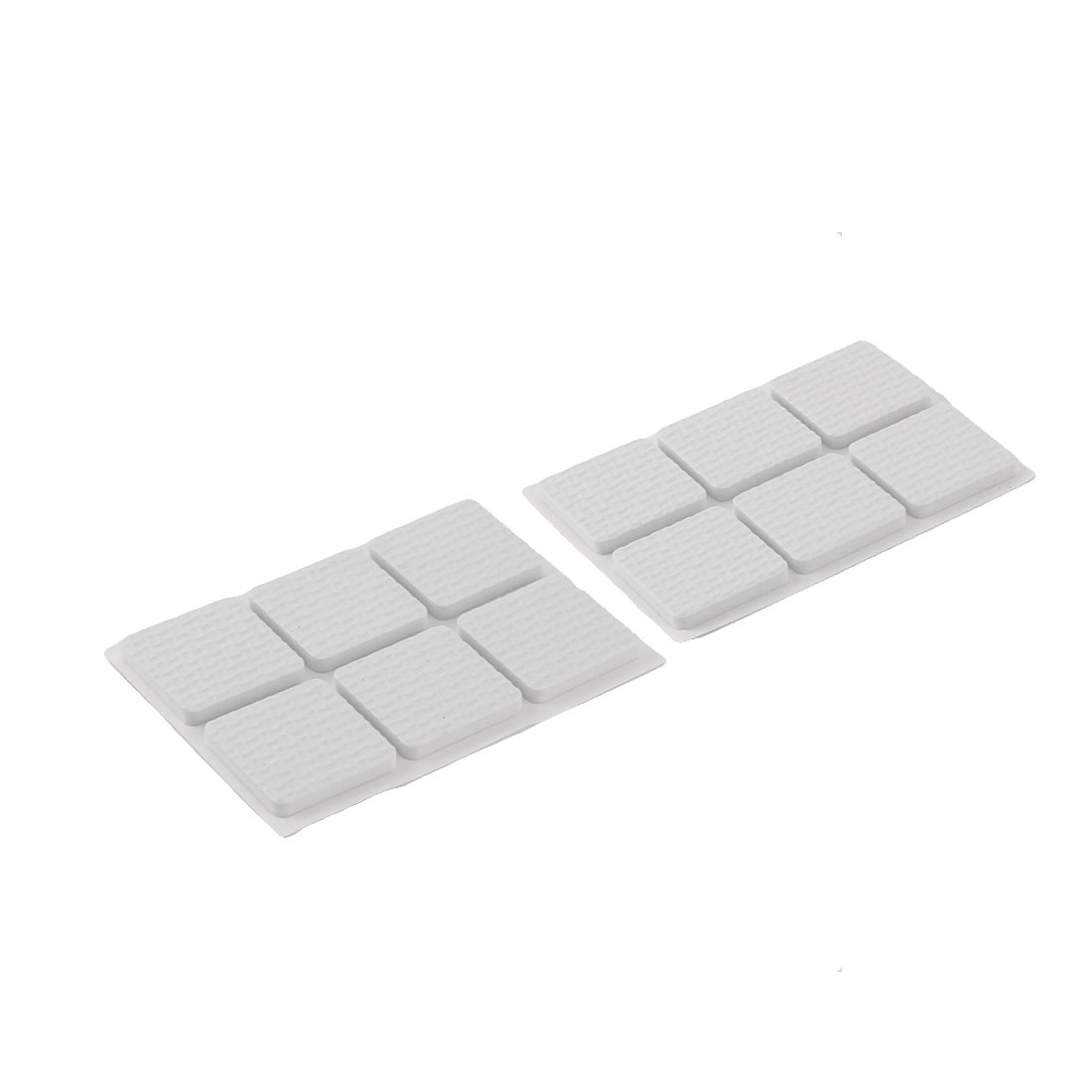 Floor EVA Square Anti Slip Table Chair Furniture Feet Pads Cover Protector White 30 x 30mm 12pcs