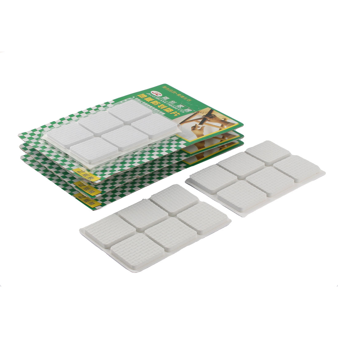 Floor EVA Square Anti Slip Table Chair Furniture Feet Pads Cover Protector White 30 x 30mm 48pcs