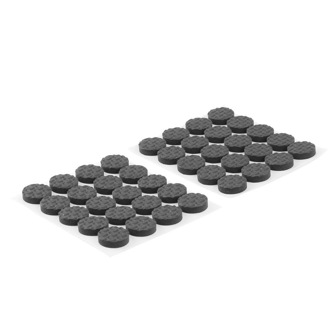 Table Chair Legs Round EVA Self Stick Protect Floor Furniture Foot Pads Black 15mm Dia 40pcs