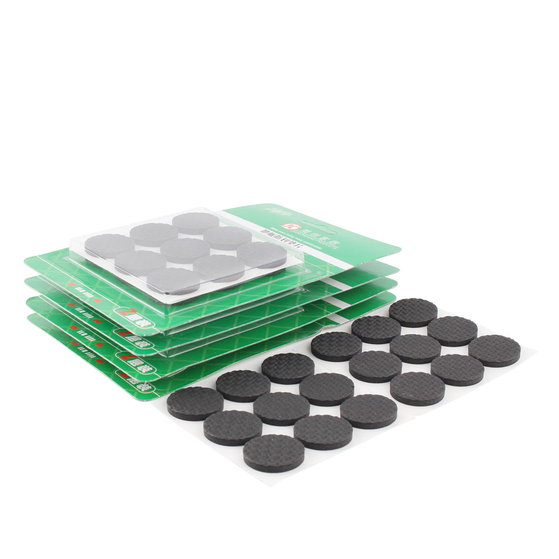 Houseware Round EVA Self Stick Floor Protect Furniture Foot Pads Mats Black 25mm Dia 90pcs