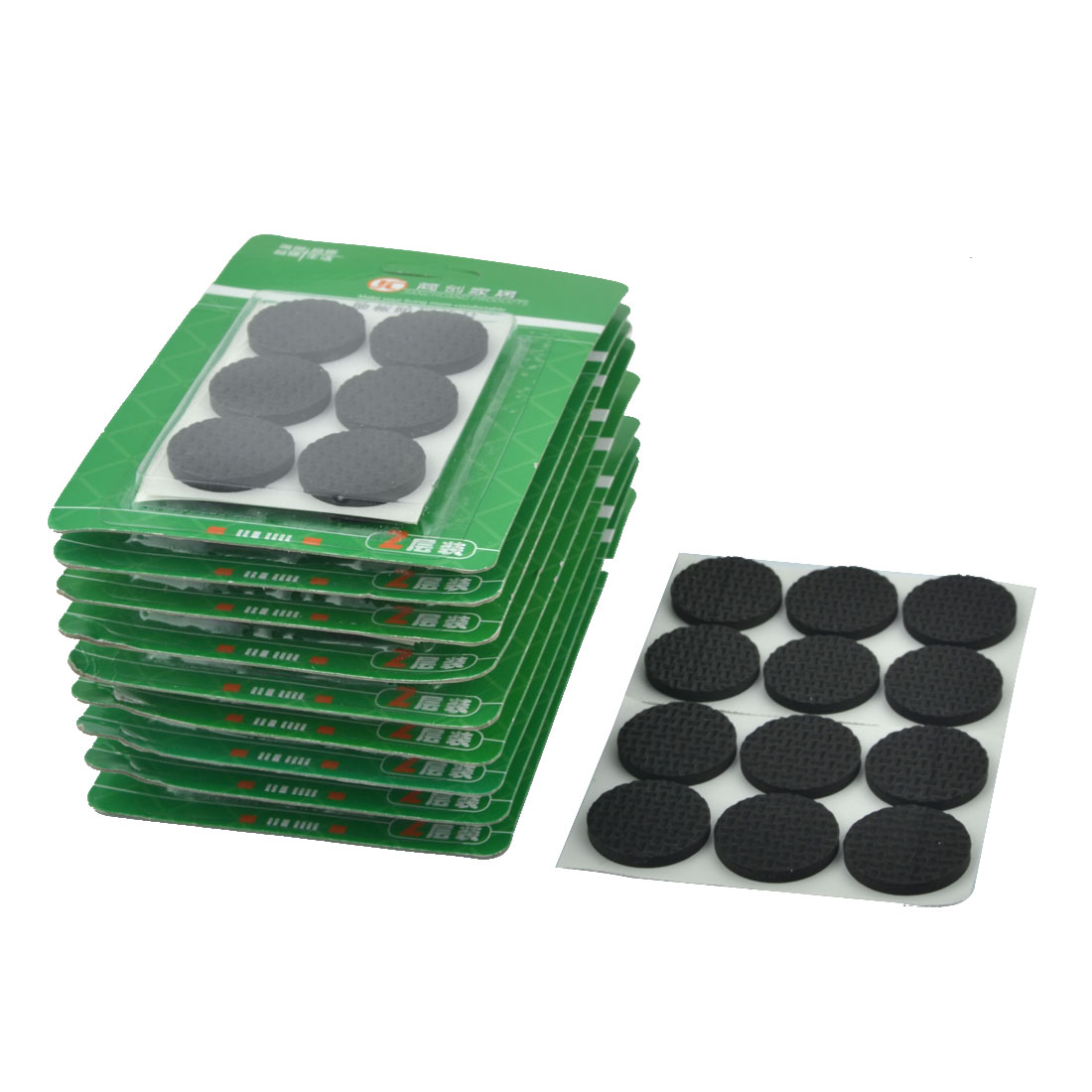 Household EVA Self Adhesive Table Cabinet Chair Furniture Foot Pads Mats Black 30mm Diameter 120pcs