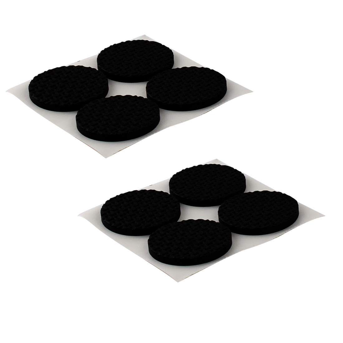 Office Round EVA Anti Slip Self Adhesive Furniture Foot Pads Cushions Black 38mm Dia 8pcs