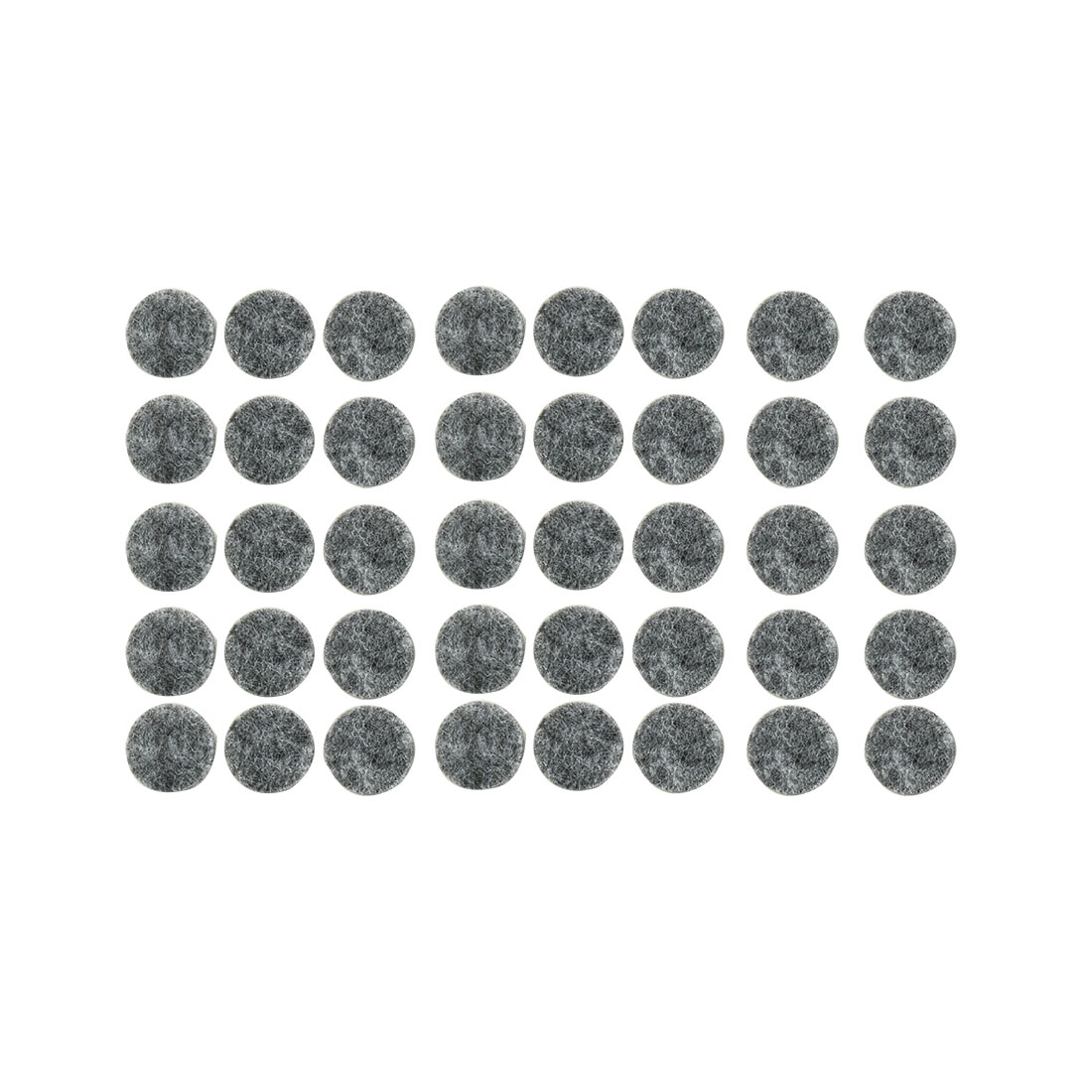 Household Self Adhesive Surface Protection Furniture Felt Pads Mats Gray 15mm Dia 40pcs
