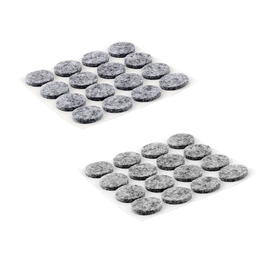 Houseware Self Adhesive Surface Protection Furniture Felt Pads Mats Gray 18mm Dia 32pcs