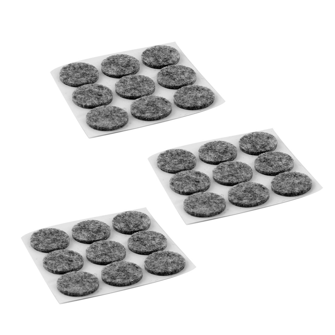 Houseware Self Adhesive Surface Protection Furniture Felt Pads Mats Gray 22mm Dia 27pcs