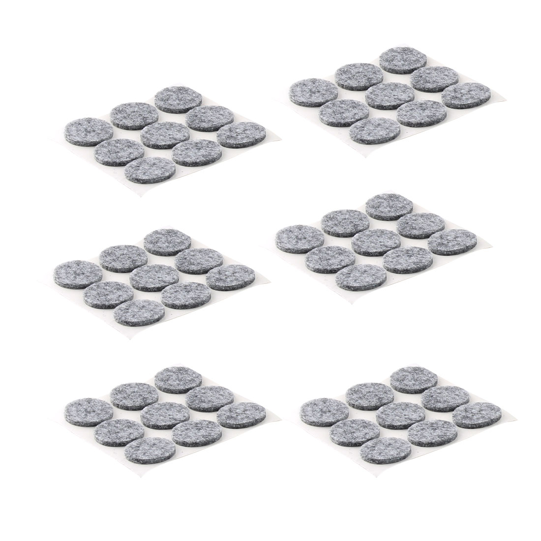 Houseware Self Adhesive Surface Protection Furniture Felt Pads Mats Gray 22mm Dia 54pcs