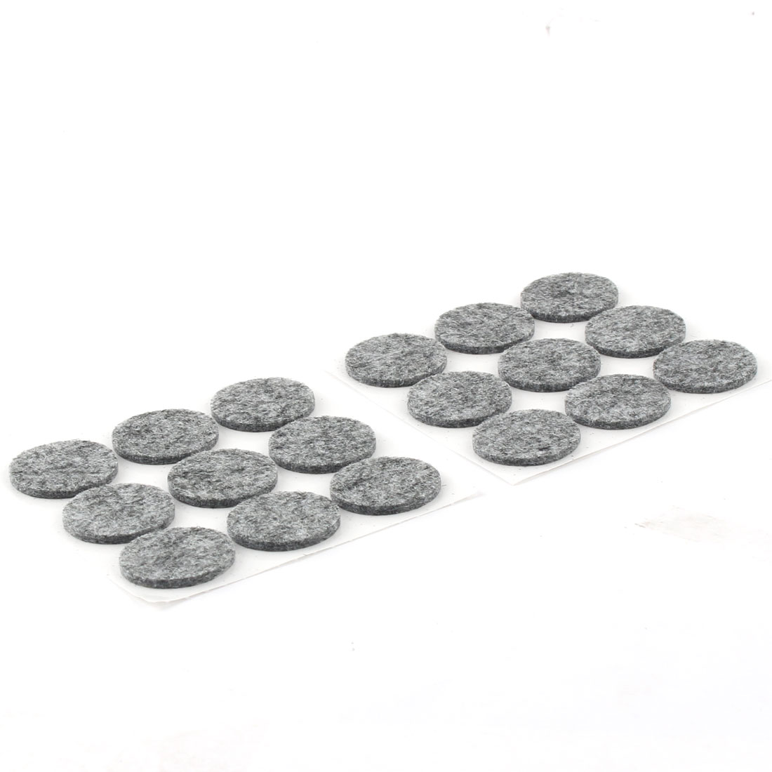 Home Office Self Stick Surface Protection Furniture Felt Pads Mats Gray 25mm Dia 18pcs