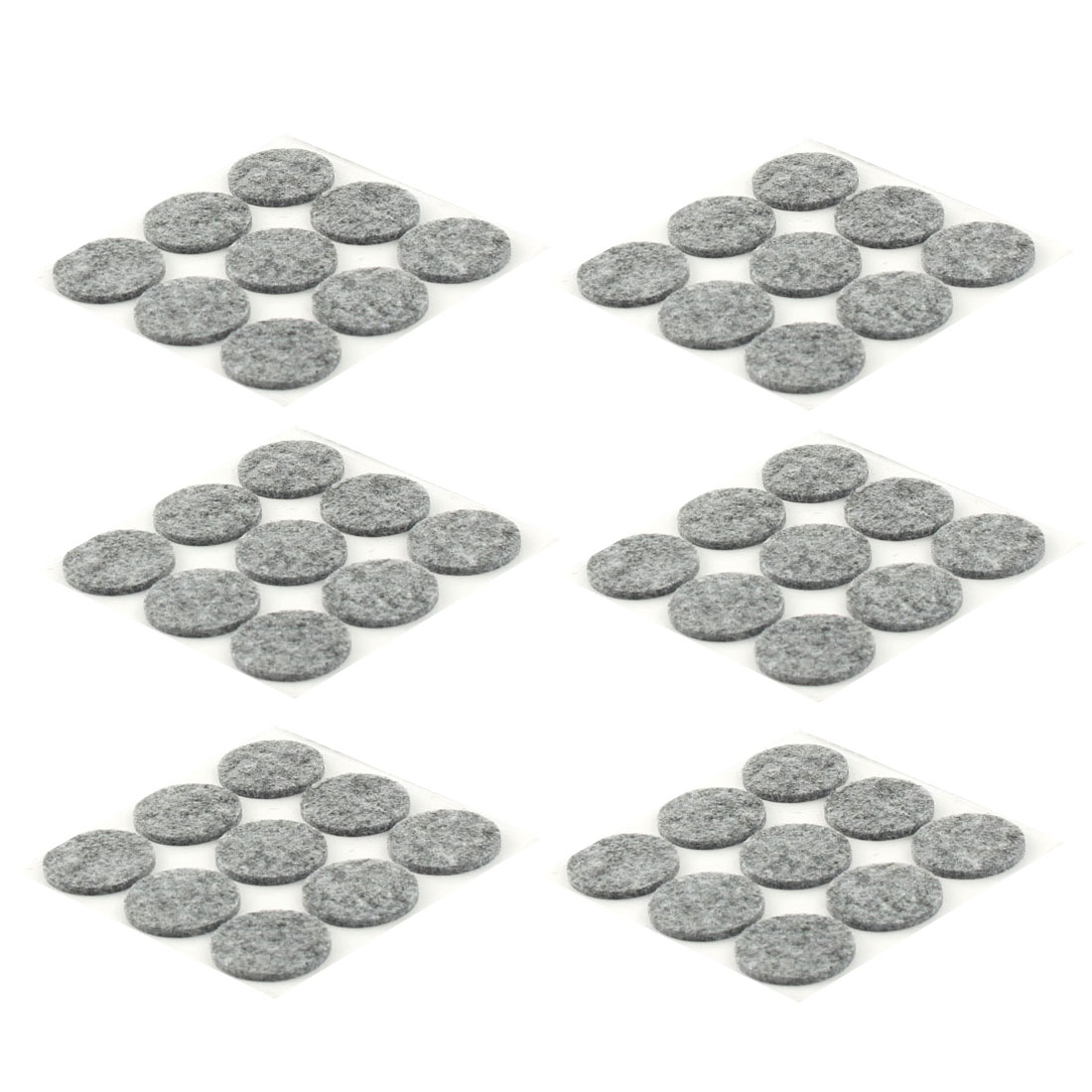 Home Office Self Stick Surface Protection Furniture Felt Pads Mats Gray 25mm Dia 36pcs