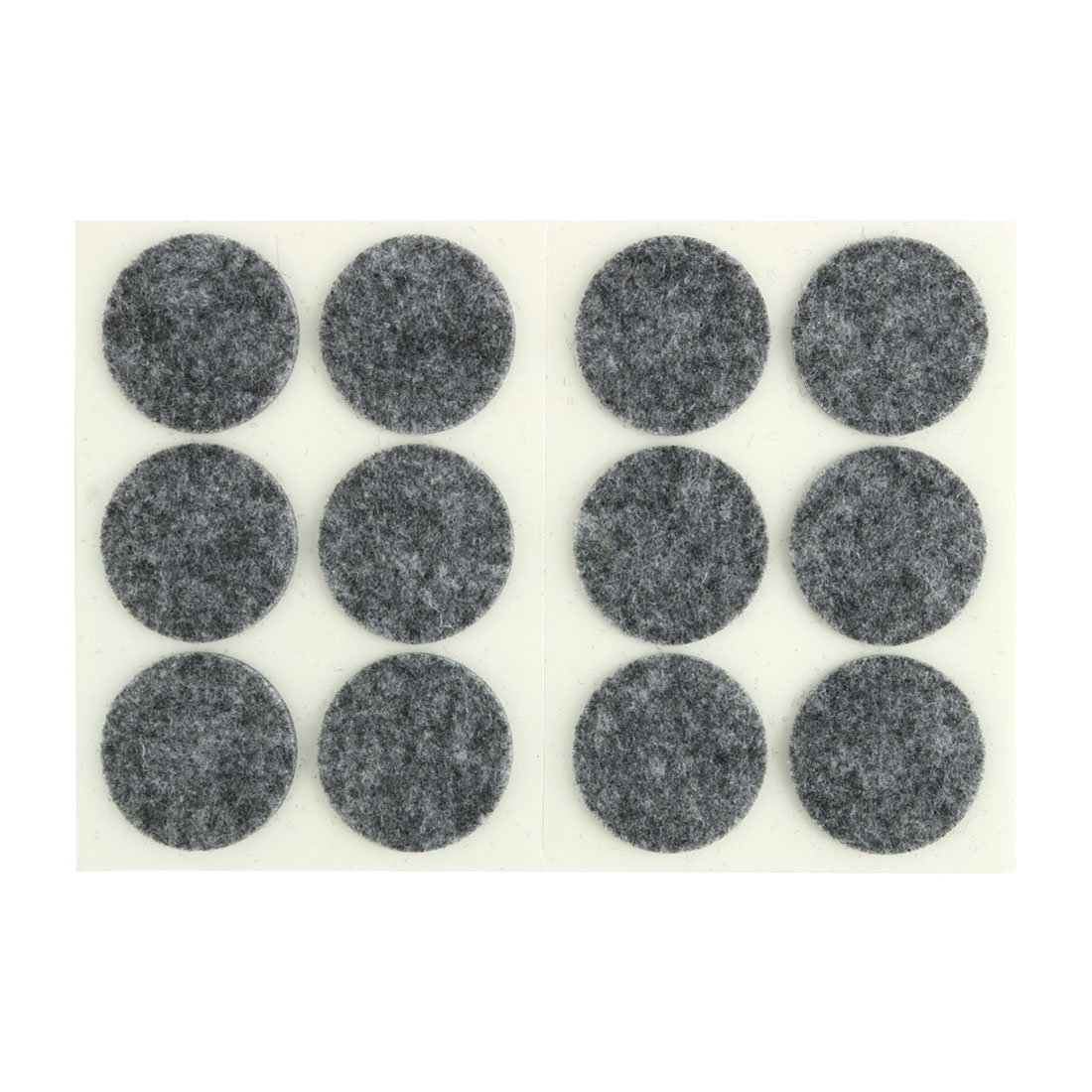 Table Chair Legs Self Adhesive Surface Protector Furniture Felt Pads Mats Gray 30mm Dia 12pcs
