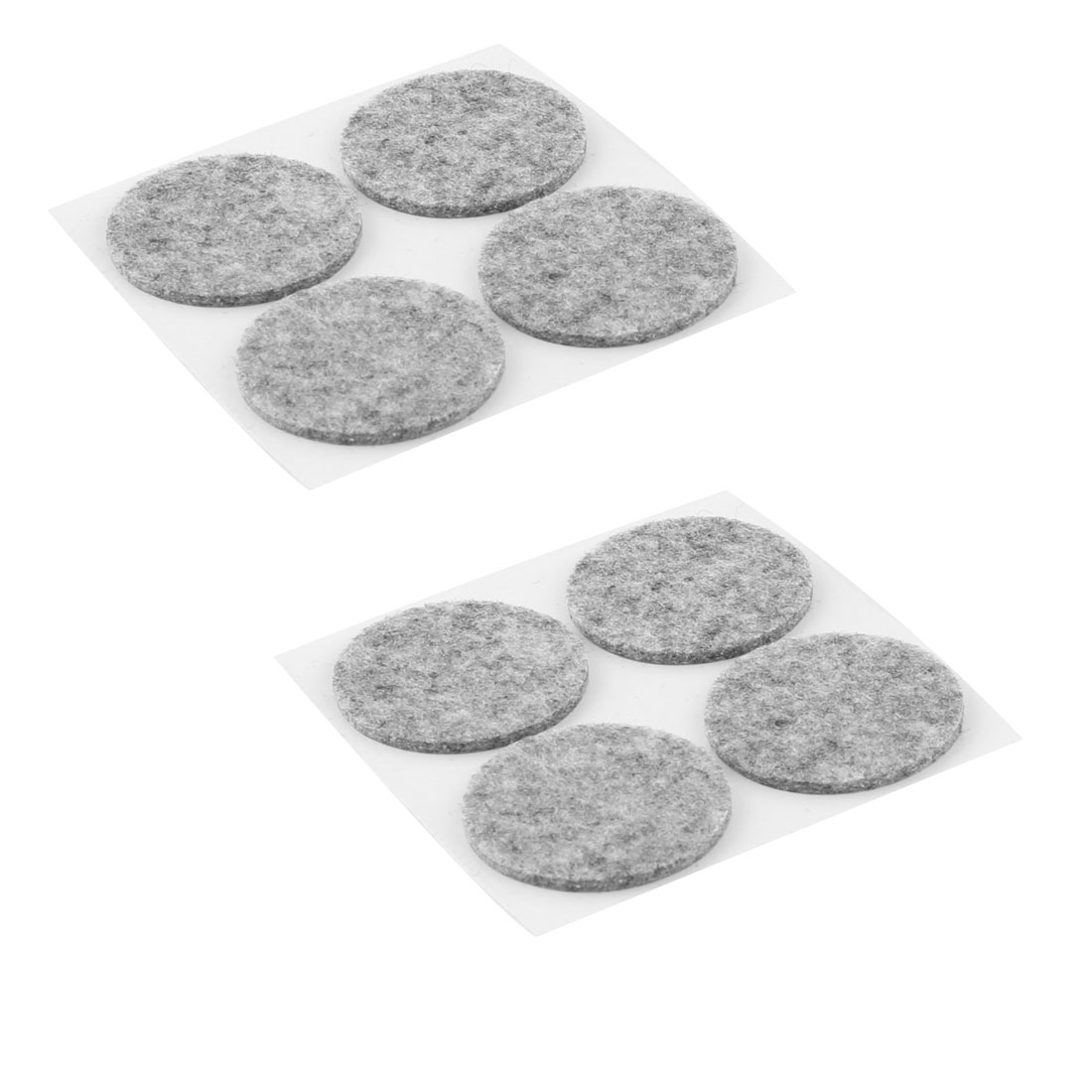 Home Office Self Stick Cabinet Table Chair Legs Furniture Felt Pads Mats Gray 38mm Dia 8pcs